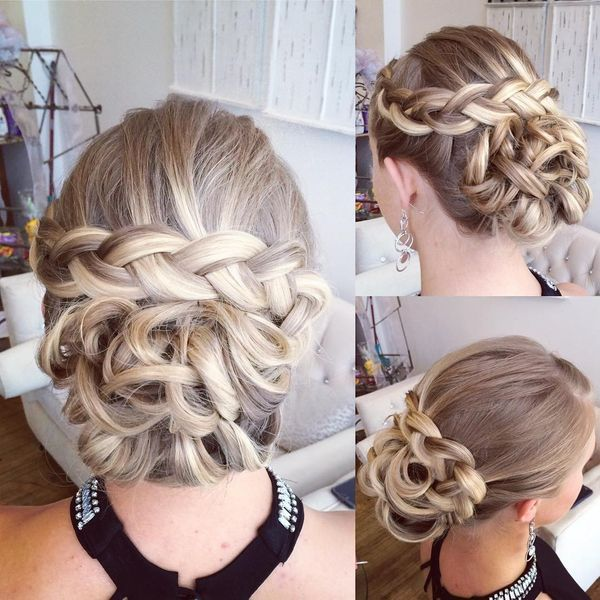 Sophisticated braided prom updos for long hair 3