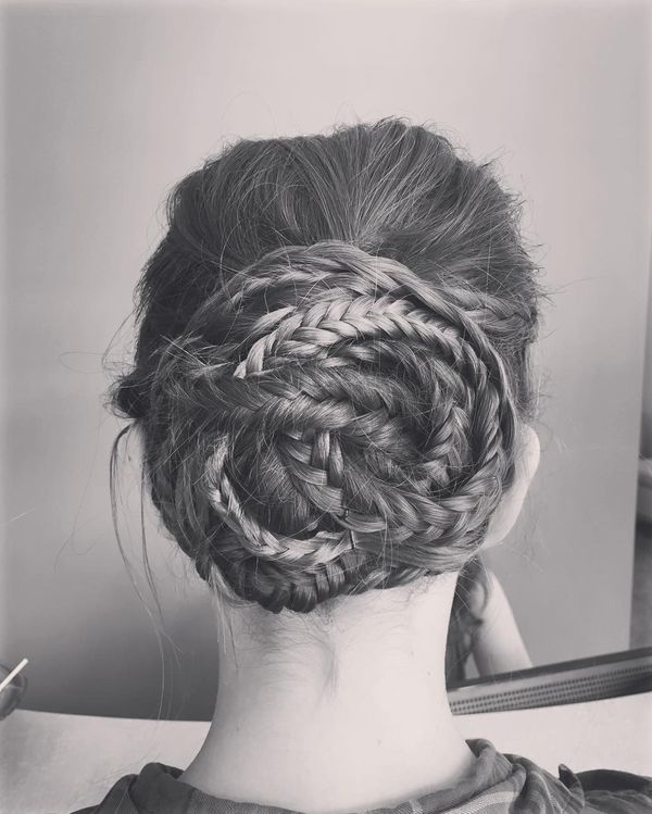 Sophisticated braided prom updos for long hair 4