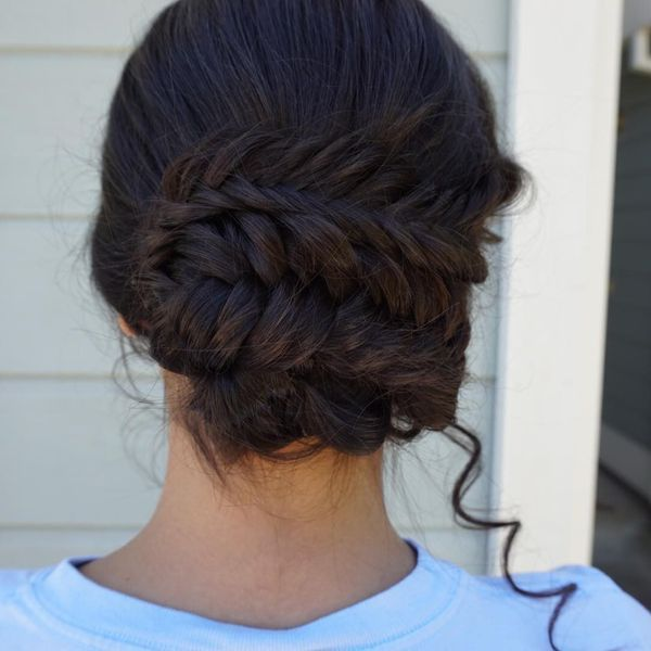 Sophisticated braided prom updos for long hair 5