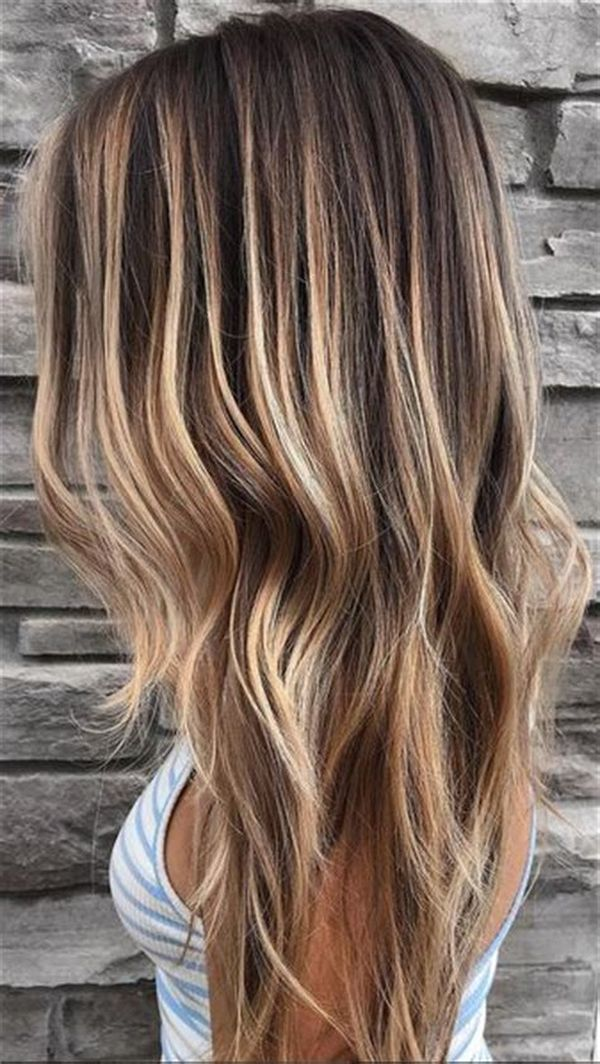 Stylish ideas for brown hair with blonde highlights 3