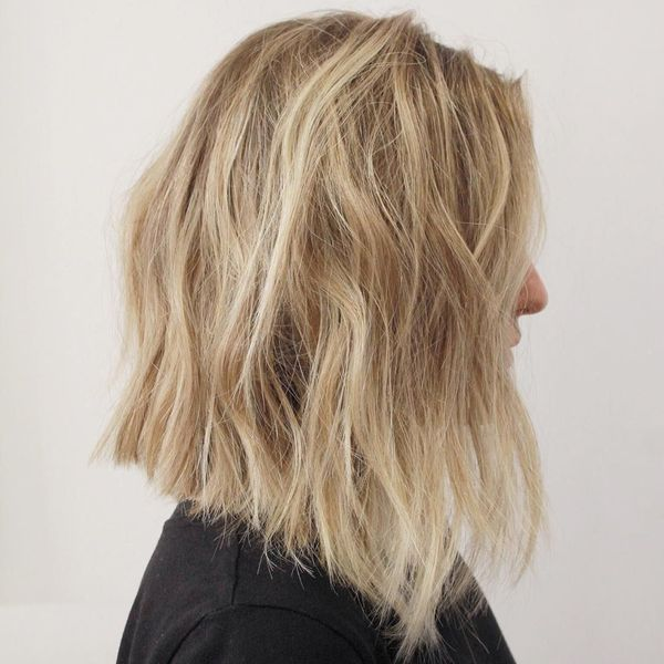 Textured long bob ideas for long hair 1