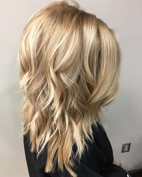 Textured long bob ideas for long hair 2
