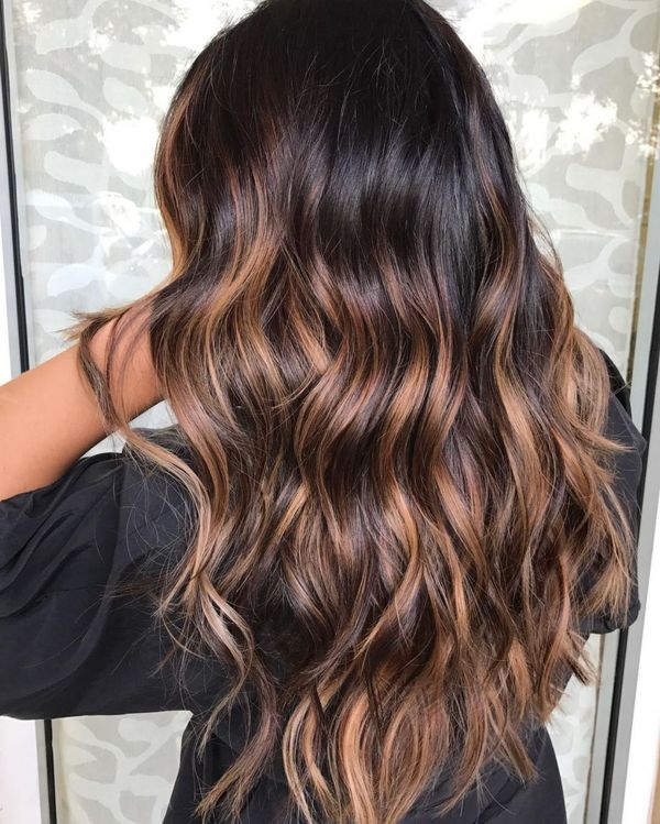 The best caramel highlights for brown hair 2