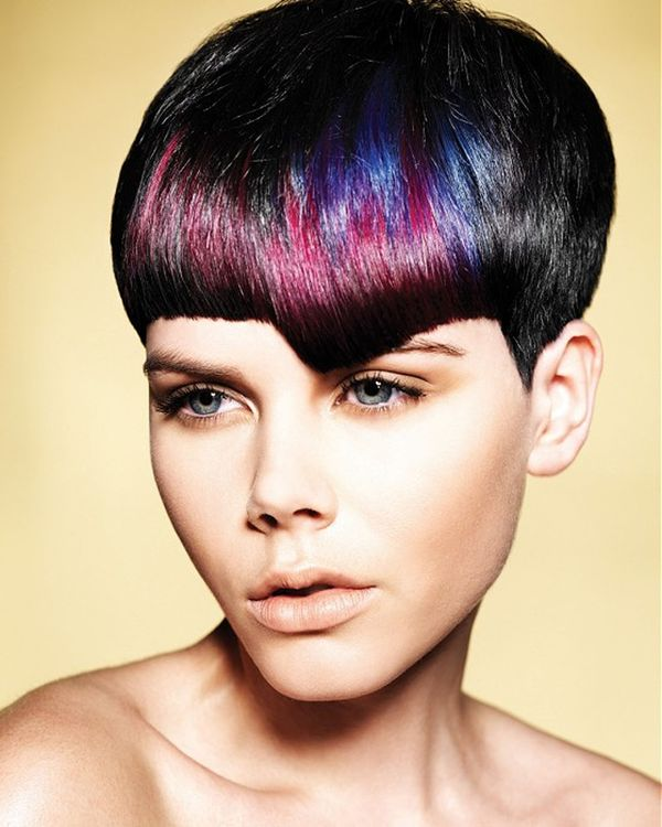 Trendy Hair Dye Styles for Short Hair 2