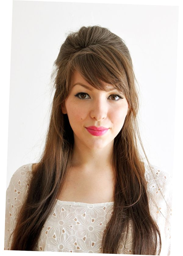 Ideas for long straight hair with bangs 3