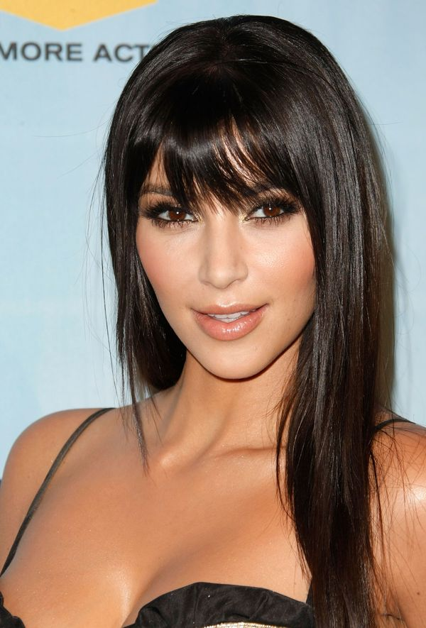 Ideas for long straight hair with bangs 7