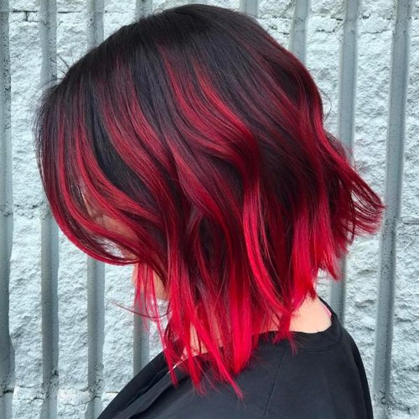 Check These Three Hair Styles With Red Highlights 3