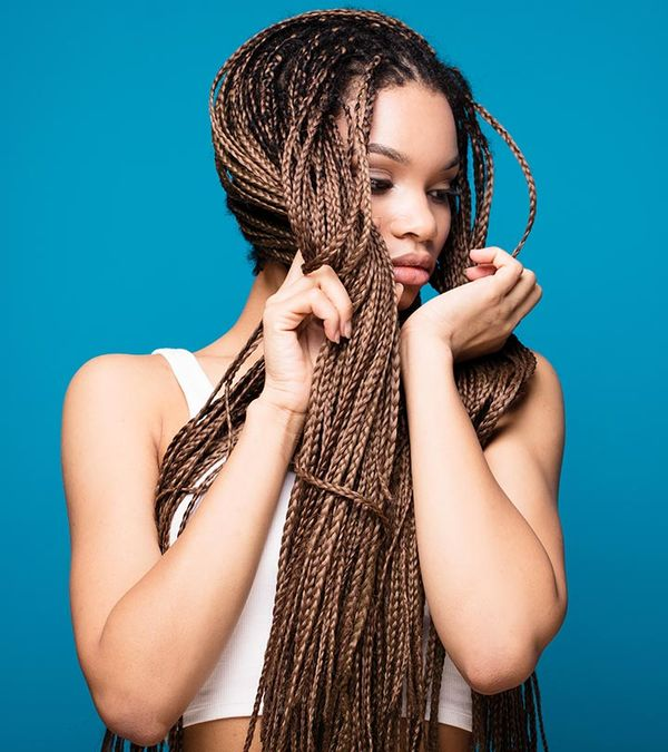Awesome long micro braids hairstyles 2