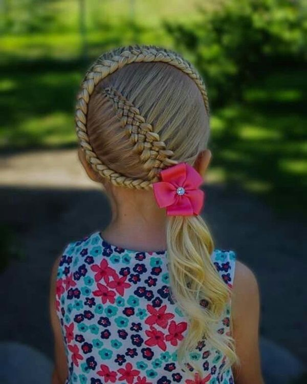 Creative Braided Hairstyles for Kids with Long Hair 1