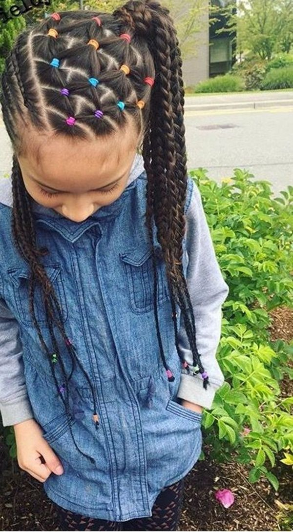 Creative Braided Hairstyles for Kids with Long Hair 4