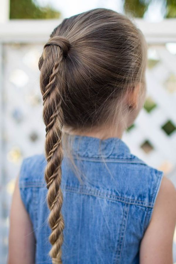 Simple One Braid Styles for Kids 1