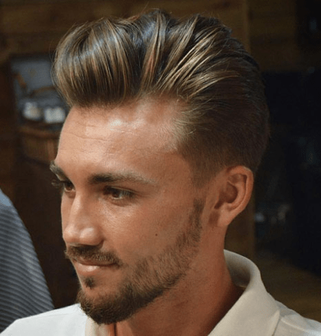 Thick Layered Brushed Back Hairstyle
