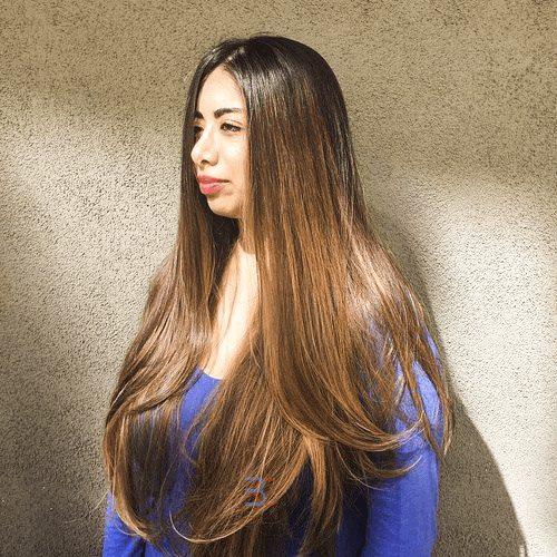 Sun Kissed Rapunzel Hair-Round Face Long Hairstyles Female-female hairstyles #womenhair #womenhairstyles