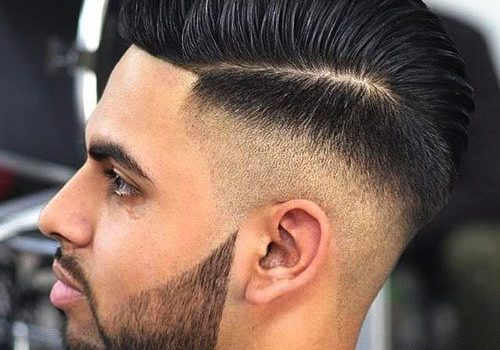 High Skin Fade + Hard Part Comb Over