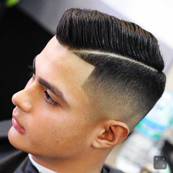 Comb Over Taper Fade