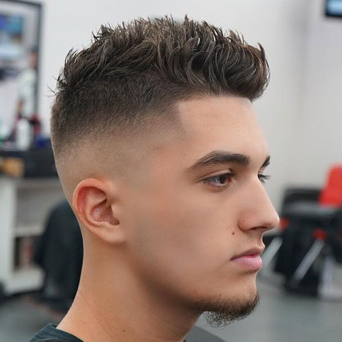 High Skin Fade + Shape Up + Spiky Hair