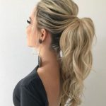 The Most Preferred Long High Pony Hairstyles 2020 for Prom