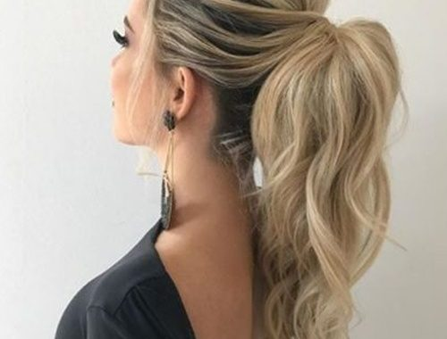 Most Preferred Long High Pony Hairstyles 2020 for Prom