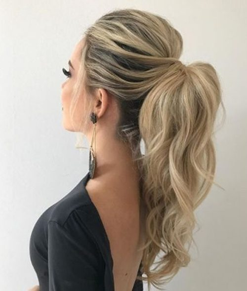 Long High Pony Hairstyles 2020-Most Preferred Long High Pony Hairstyles 2020 for Prom-women hair styles 2020