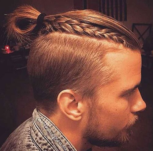 Man Braid with Top Knot