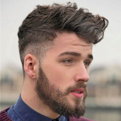 Messy Long Fringe With Mid Taper