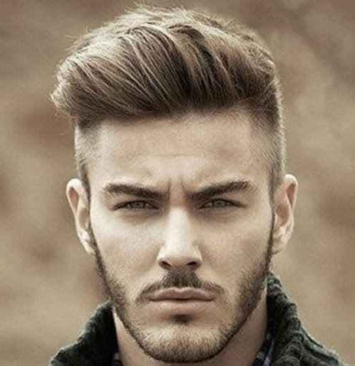 Classic Taper Fade with Textured Side Swept Front