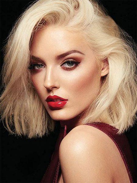 short hairstyles for women-Short Wavy Blonde Hair