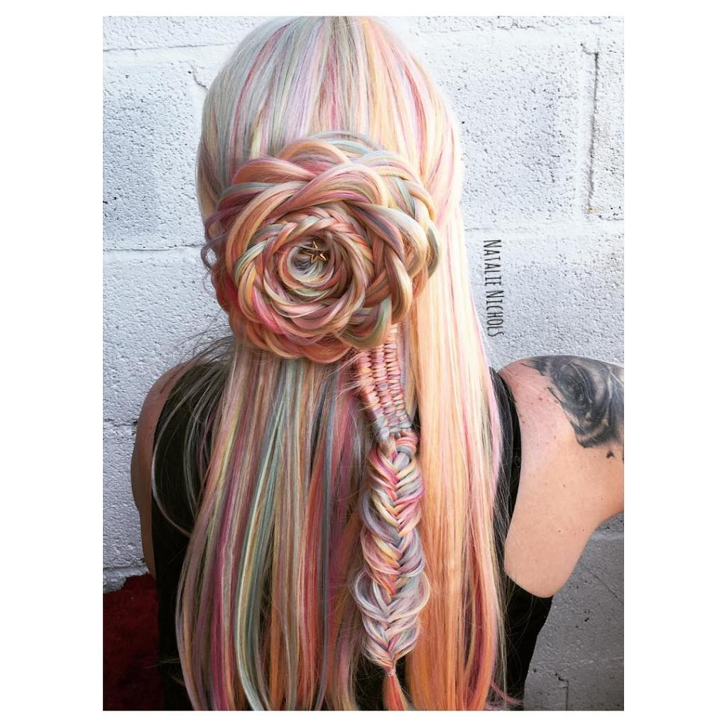 Rose Braid Hairstyles