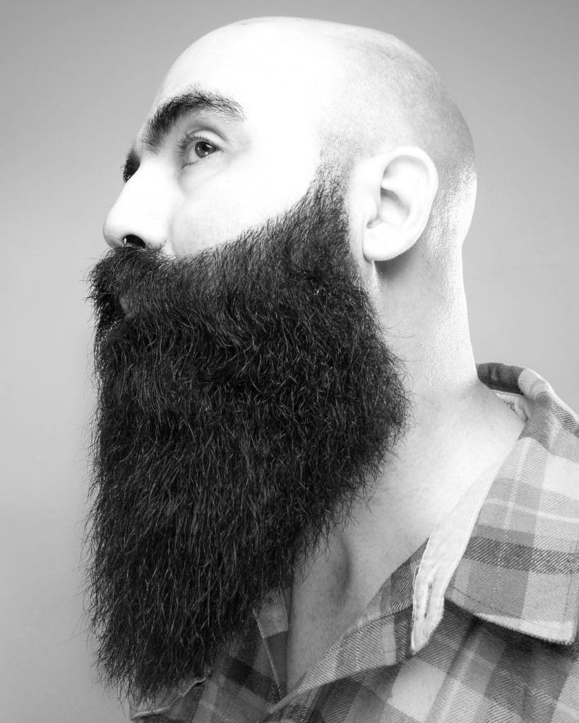 Cool Beard Styles-full beard styles-high beard styles-Bald Head with Beard Style