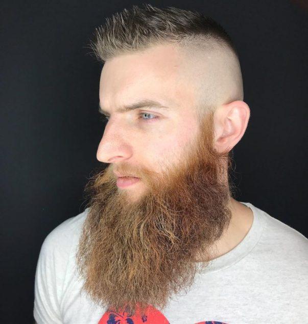 Cool Beard Styles-full beard styles-high beard styles-Short Hair with Full Beard Styles