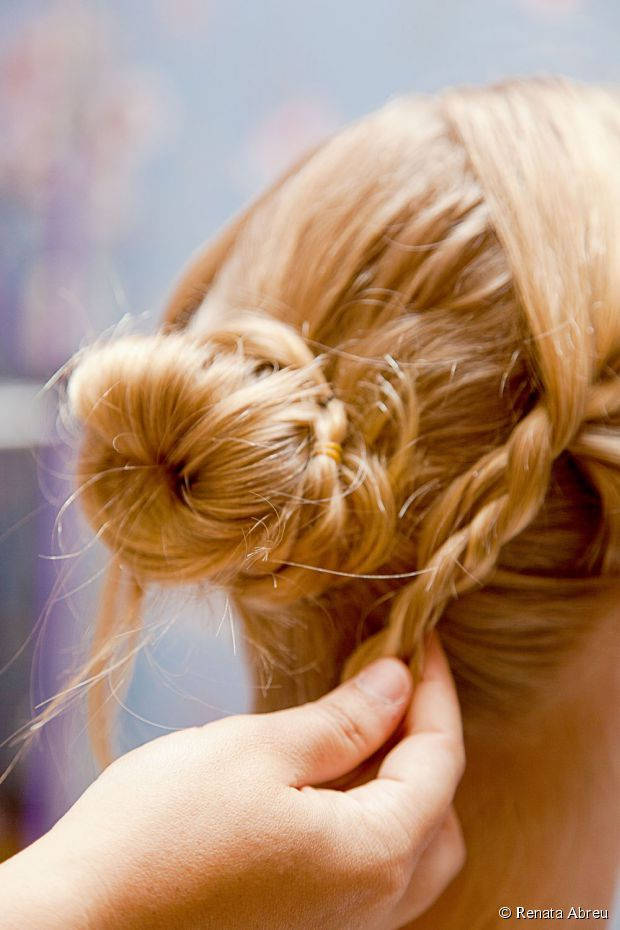 braids into a bun