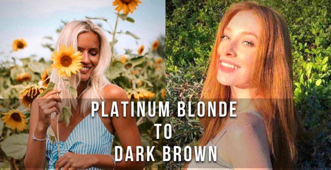 Hair Color Trends-Platinum Blonde to Dark Brown