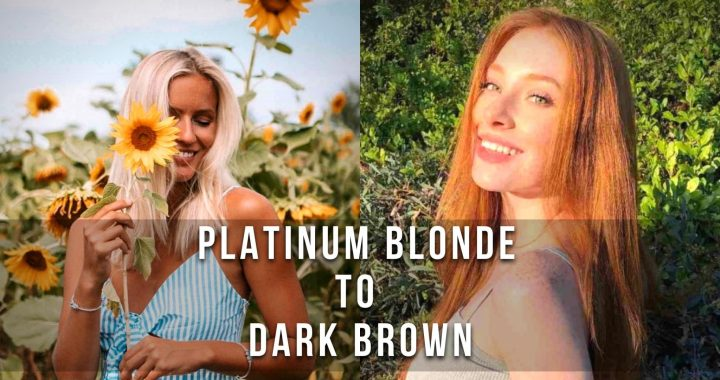 7 Hair Color Trends to try this year. Platinum Blonde to Dark Brown