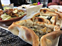 Fatayer with minced lamb and pine nuts