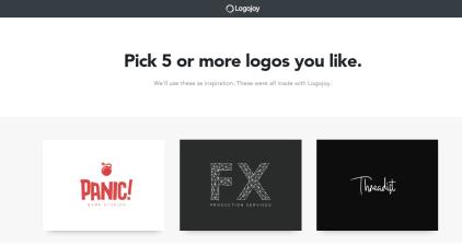 Logojoy logo options stage 1