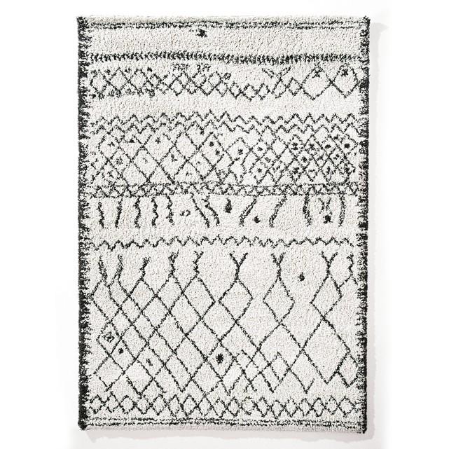 La Redoute Black and White Berber Rug
