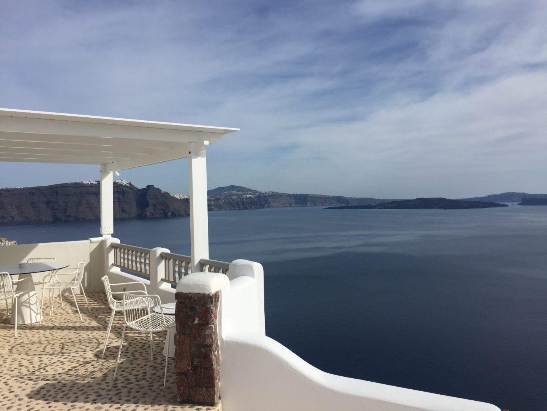 Babymoon Guide to Santorini views over the Caldera