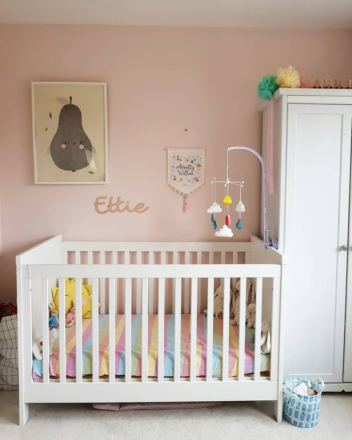 pink girls room nursery