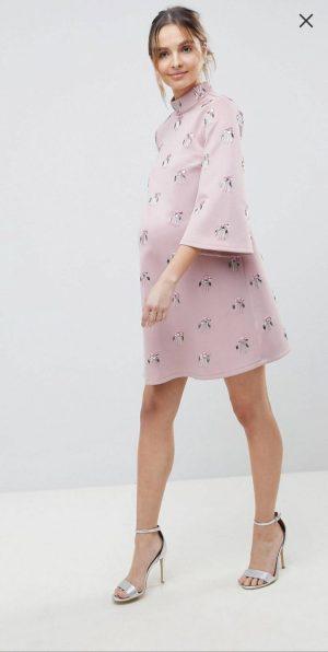 Dusty pink embellished dress