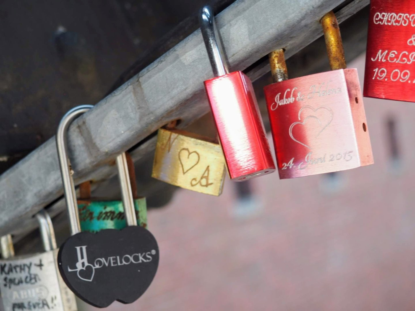 Locks on the bridges interlinking the canals of The Warehouse District, Hamburg with a Toddler   Ettie and Me