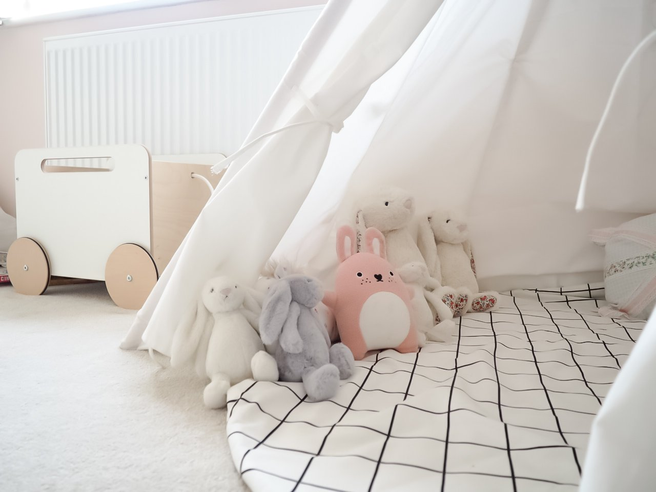 A pink Scandi inspired girls room | Ettie and Me
