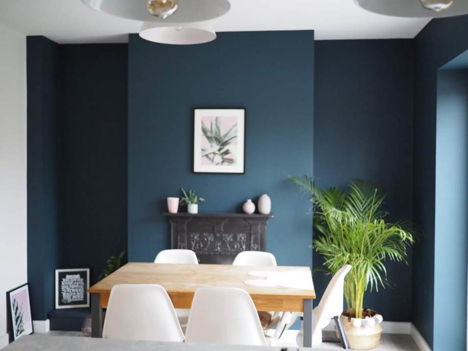 Dining Room in Hauge Blue