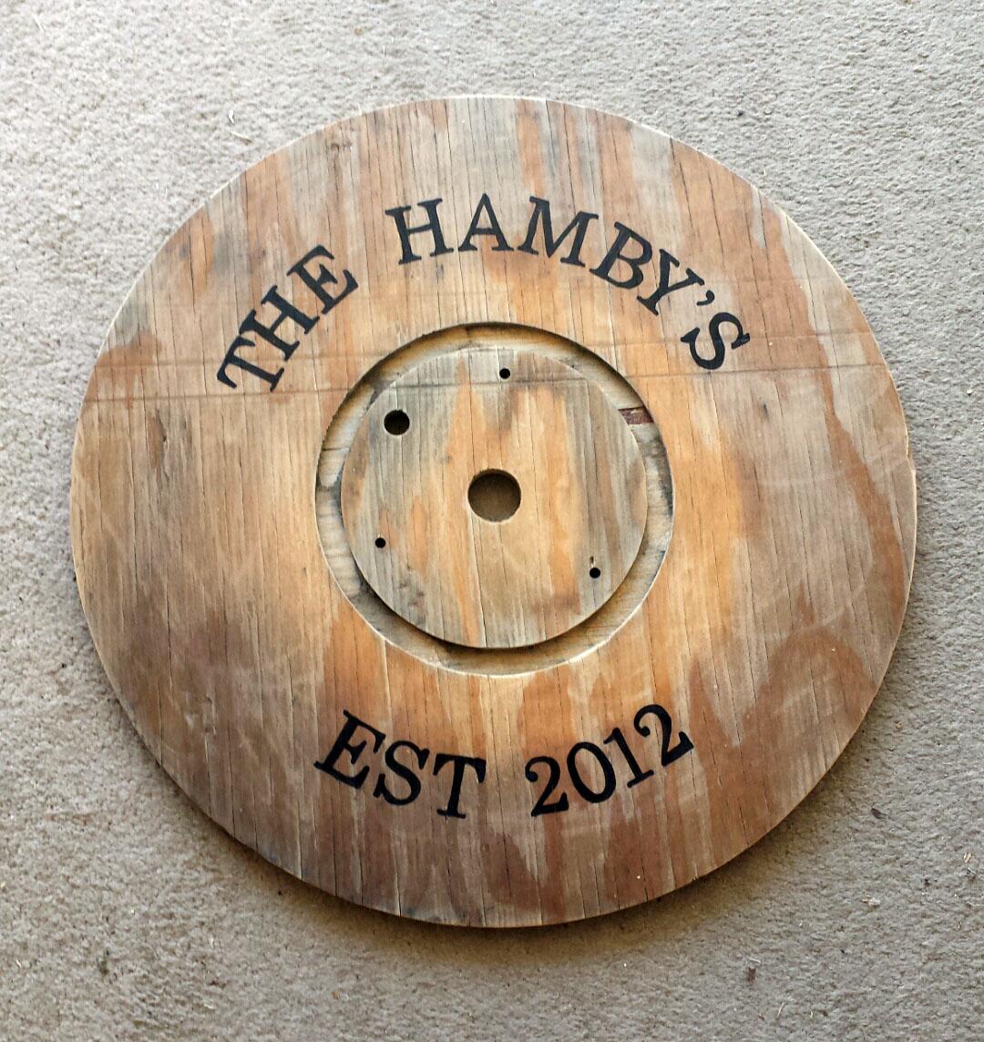 Diy Wooden Spool Tray The Hamby Home