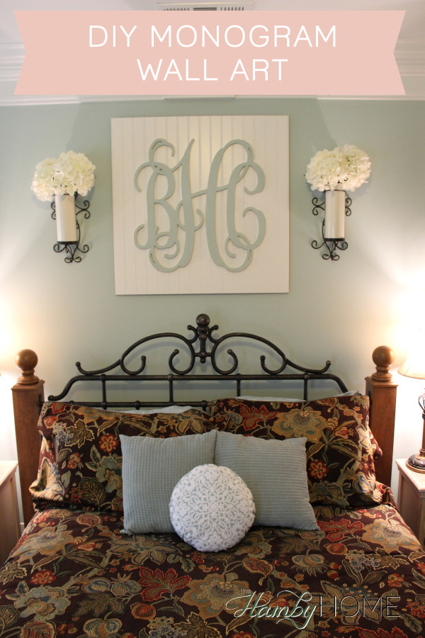 DIY Beadboard Monogram Wall Art Part 83