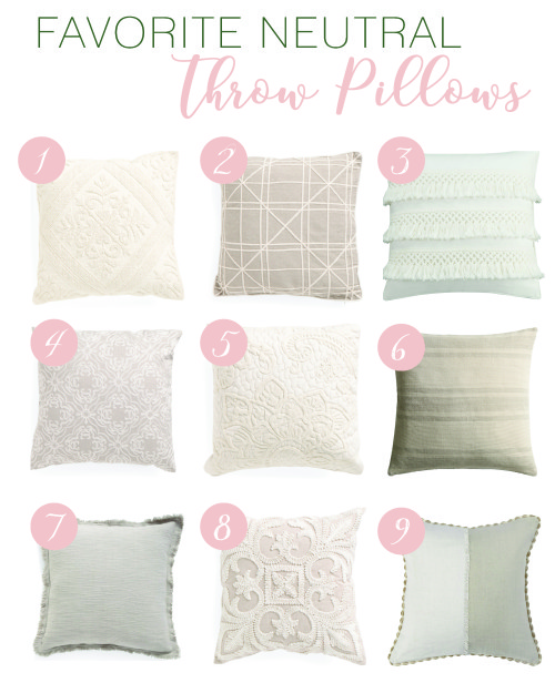 Favorite Neutral Throw Pillows