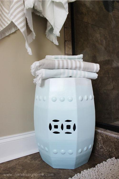 Diy Ombre Ceramic Garden Stool Makeover The Hamby Home