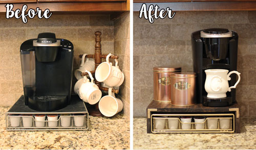 Merveilleux K Cup Drawer Makeover Before And After B