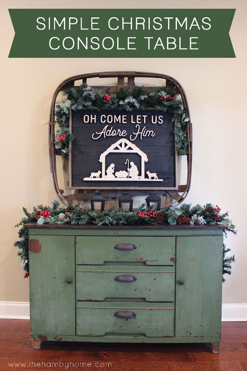 Simple Christmas Console Table Decor
