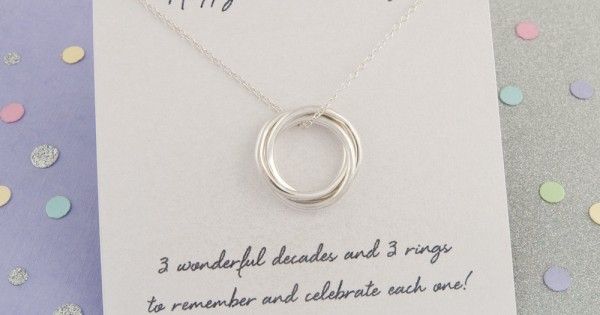 30th Birthday Gift For Her 30th Birthday Ideas 30th Birthday Gift For Daughter Handmade 3 Rings For 3 Decades Russian Ring Necklace