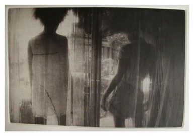 "Kaden Kratzer, Window, Copper-plate photogravure, 13""x 10"" http://kadenca.tumblr.com"
